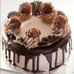 big_ferrero rocher cake